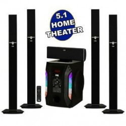 Acoustic Audio Bluetooth Tower 5.1 Home Speaker System with 8