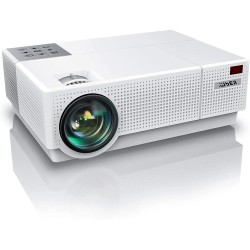 YABER Y31 Native 1920x 1080P Projector 7200 Lux Upgrade Full HD Video Projector, ±50° 4D Keystone Correction Support 4K, LCD LED Home Theater Projector Compatible with Phone,PC,TV Box,PS4 (White)