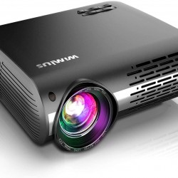 7200 Lux Projector, WiMiUS Newest P20 Native 1080P Projector Support 4K, ±50° Keystone Correction, 50% Zoom Function, Low Noise Compatible with PC Laptop Chromecast USB Stick Fire TV Stick Smartphones