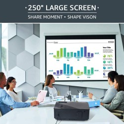 Native 1080p Full HD Projector, WiFi Projector, Bluetooth Projector, FANGOR 7500 Lumens/250 Display/ Contrast 8000: 1 Full HD Theater Projector with Wireless Mirror to iPhone/Ipad/Android Phones