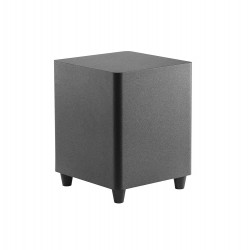 12-Inch Down Firing Powered Subwoofer Home Theater Surround Sound Black 12